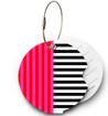 Obrázek z Jmenovka na kufr Addatag - Multi Stripes Pink