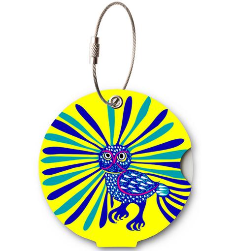Obrázek z Jmenovka na kufr Addatag - Owl Yellow