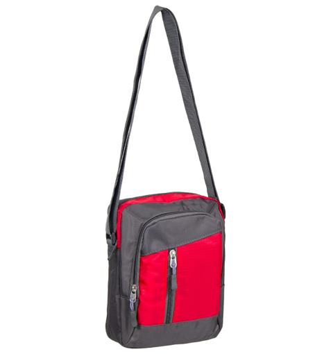 Obrázek z Taška přes rameno REAbags LL22 - šedá/červená - 4 L