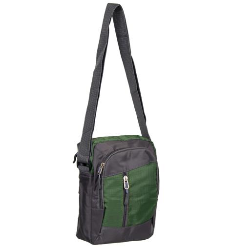 Obrázek z Taška přes rameno REAbags LL22 - šedá/zelená - 4 L